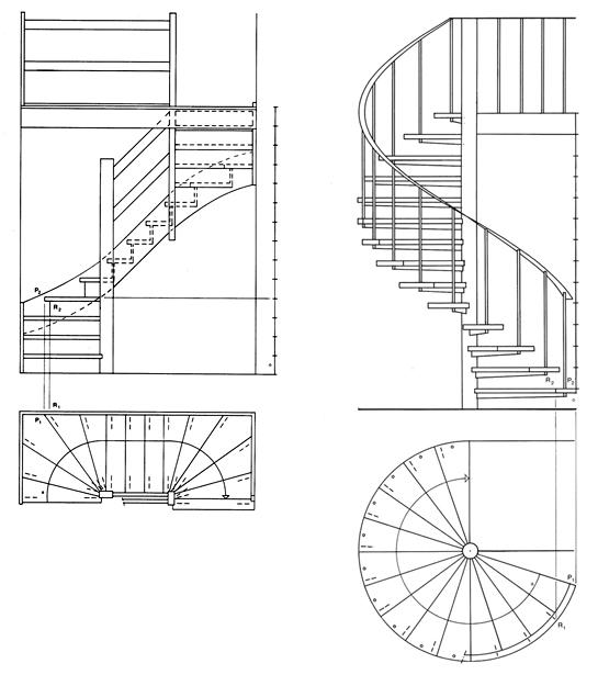 Bouwtechnisch tekenen tekentechnieken bk wiki for Trap doorsnede